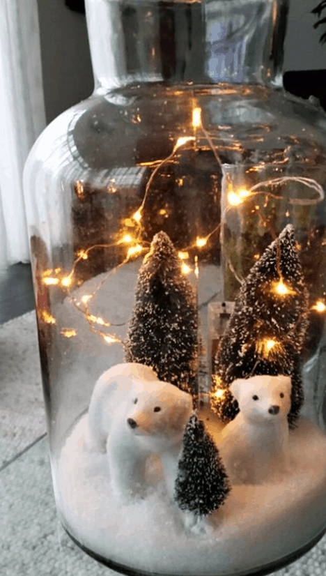 Addobbi di Natale con i vasi di vetro per trasformare la nostra casa (Foto)