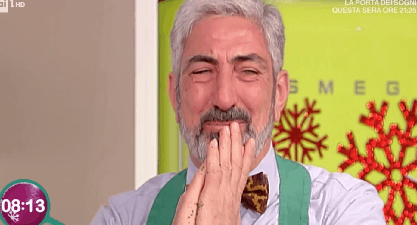 Altre lacrime a La prova del cuoco, il discorso di Claudio Lippi sulla famiglia (Foto)
