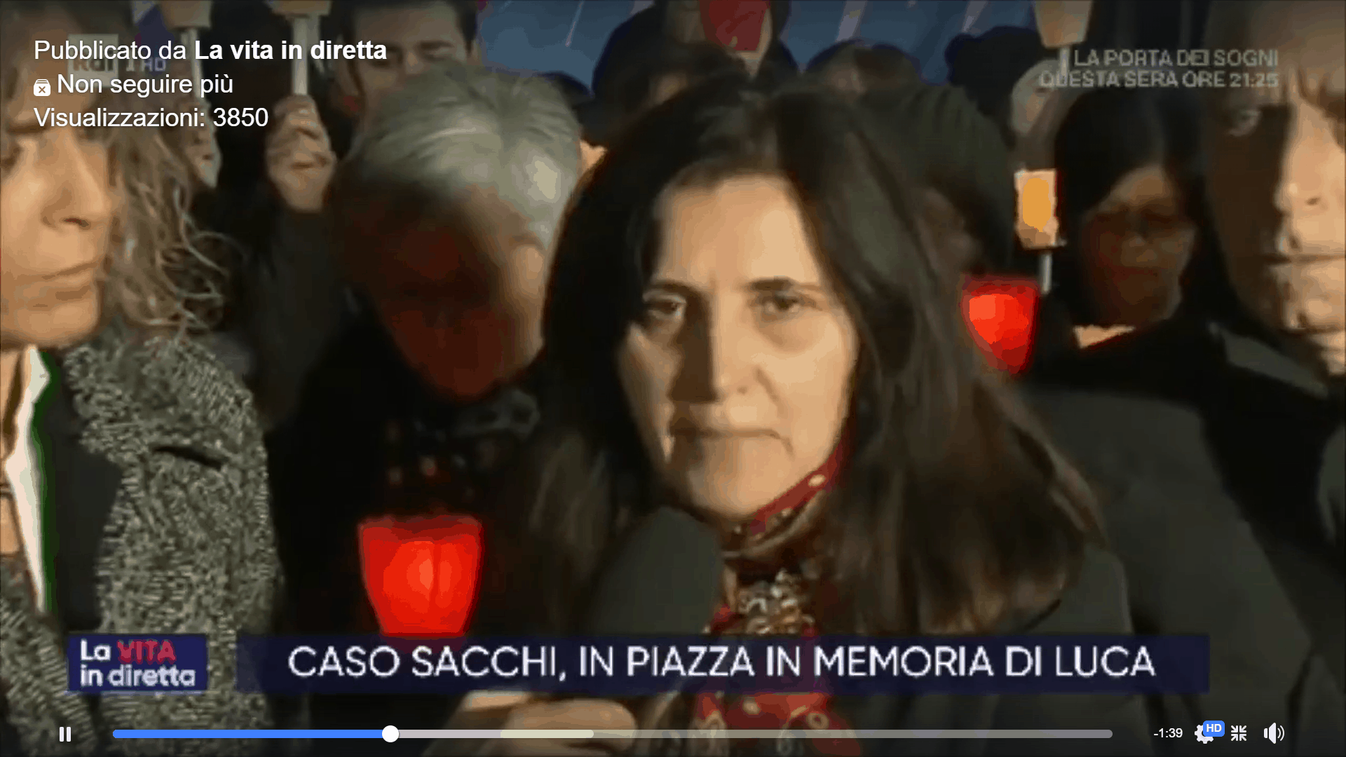 "La mamma di Luca Sacchi su Anastasiya: ""Deve vergognarsi, me l'ha portato via. Spero vada in carcere"""