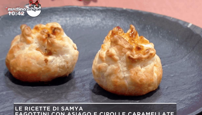 Ricette Samya, prepariamo i fagottini con formaggio e cipolle caramellate