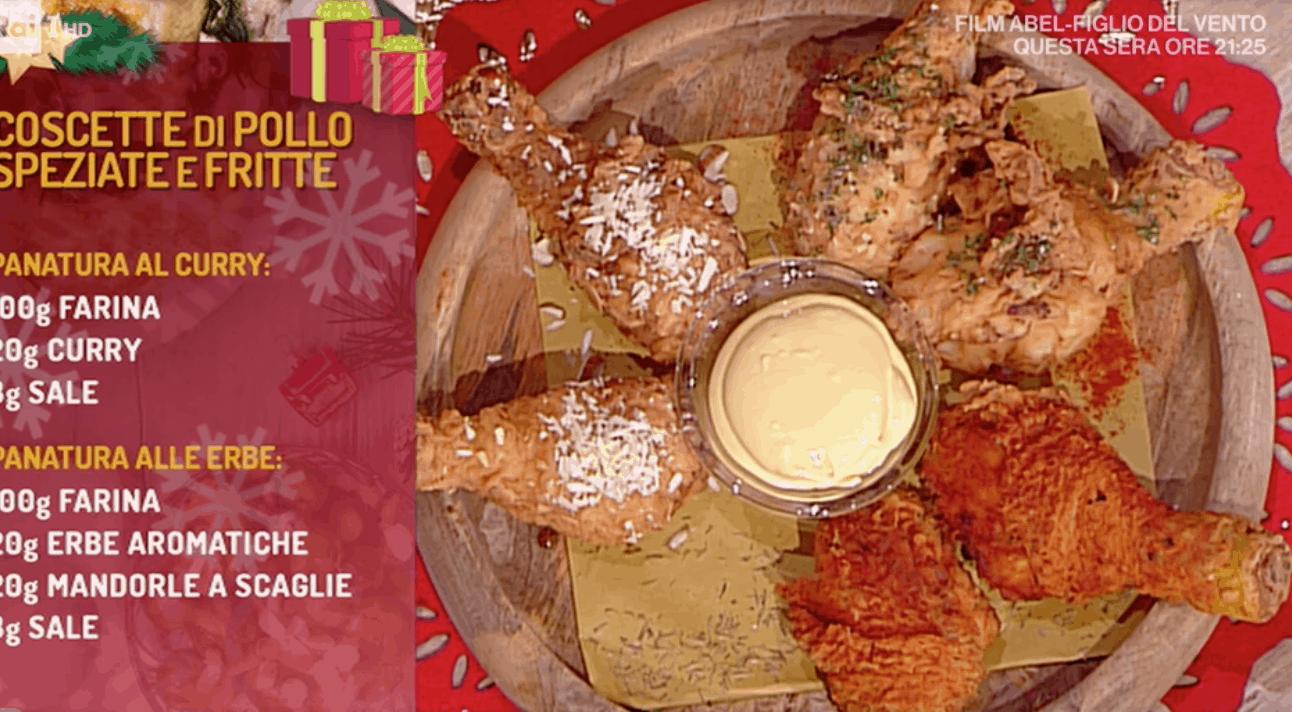 Diego Bongiovanni propone le coscette di pollo fritte, ricetta La prova del cuoco