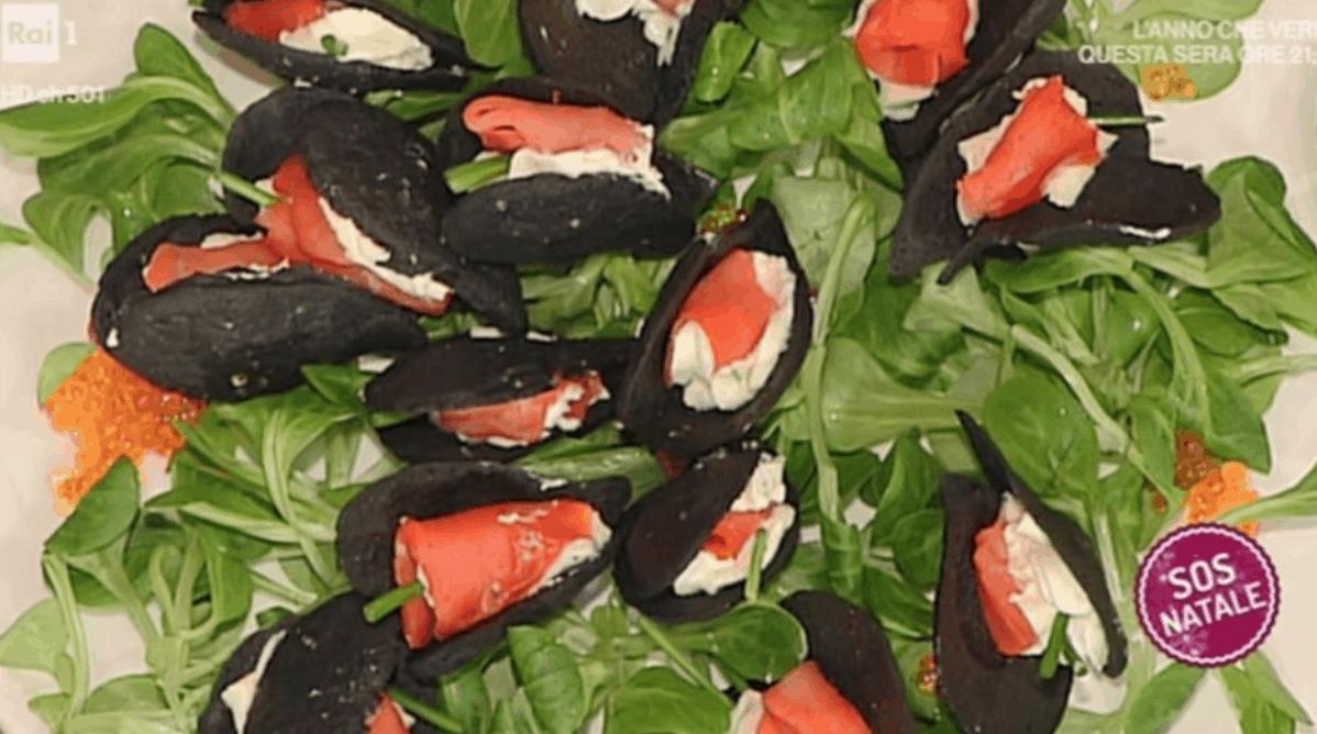 La ricetta speciale di Persegani delle finte cozze per La prova del cuoco