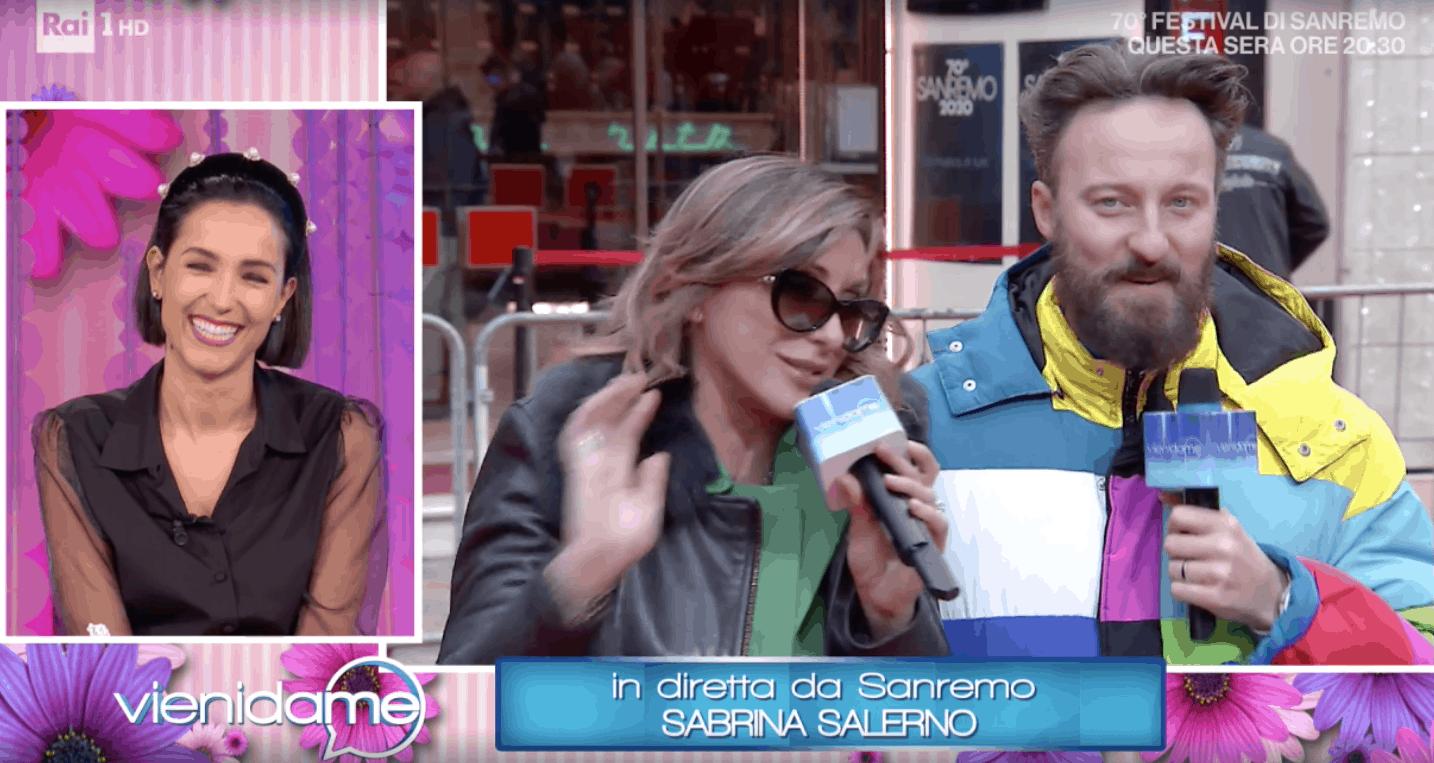 Sabrina Salerno a Vieni da me confessa cosa c'è dietro quelle scale di Sanremo 2020 (Foto)