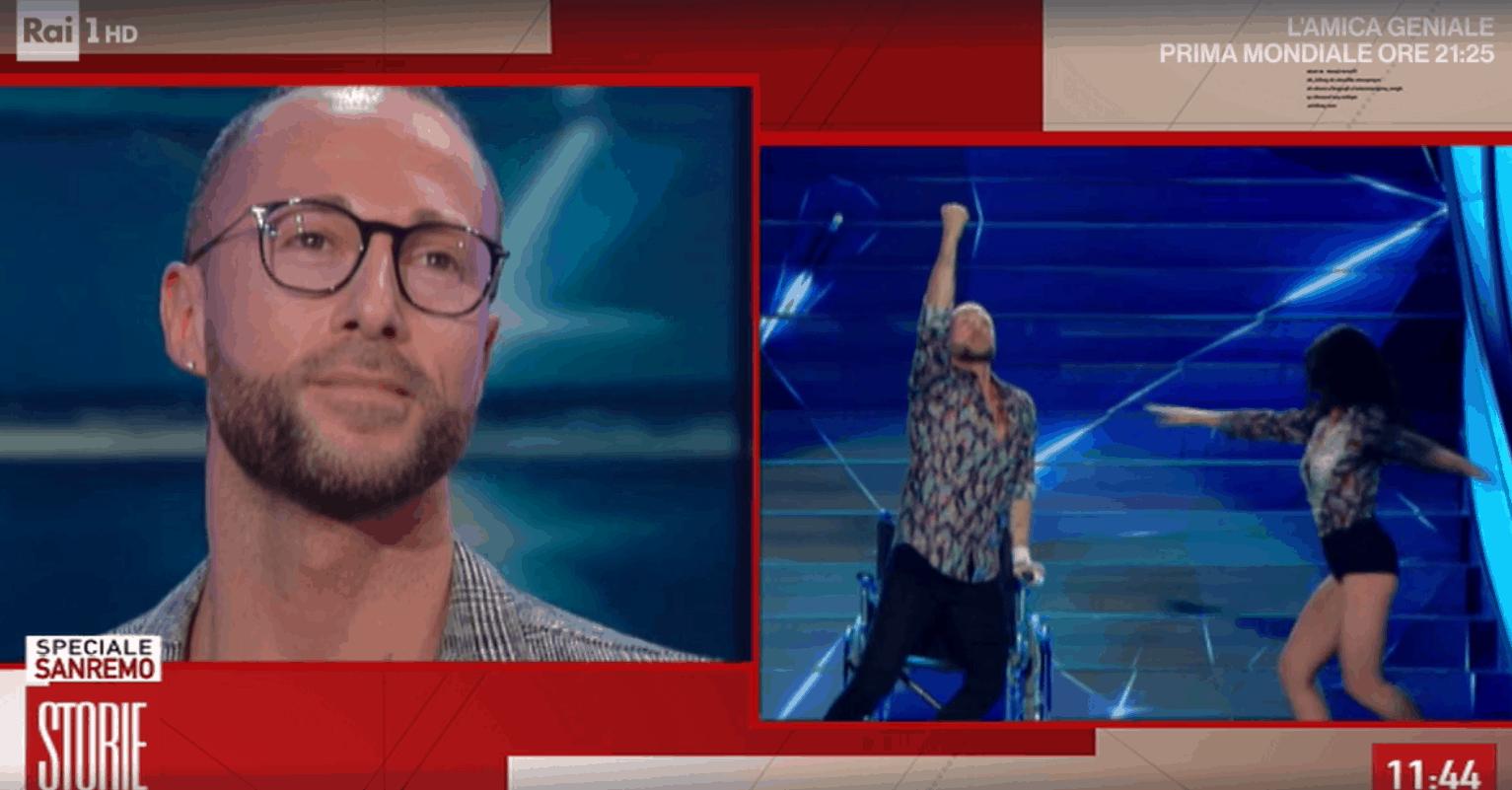 Ivan Cottini a Storie Italiane racconta le sue emozioni sul palco di Sanremo 2020