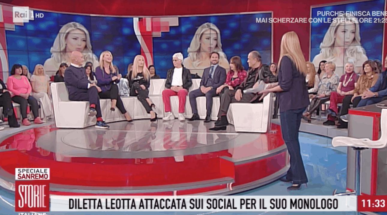 A Storie Italiane il fratello di Diletta Leotta: è caduta in un tranello o poteva dire la verità sui ritocchi? (Foto)