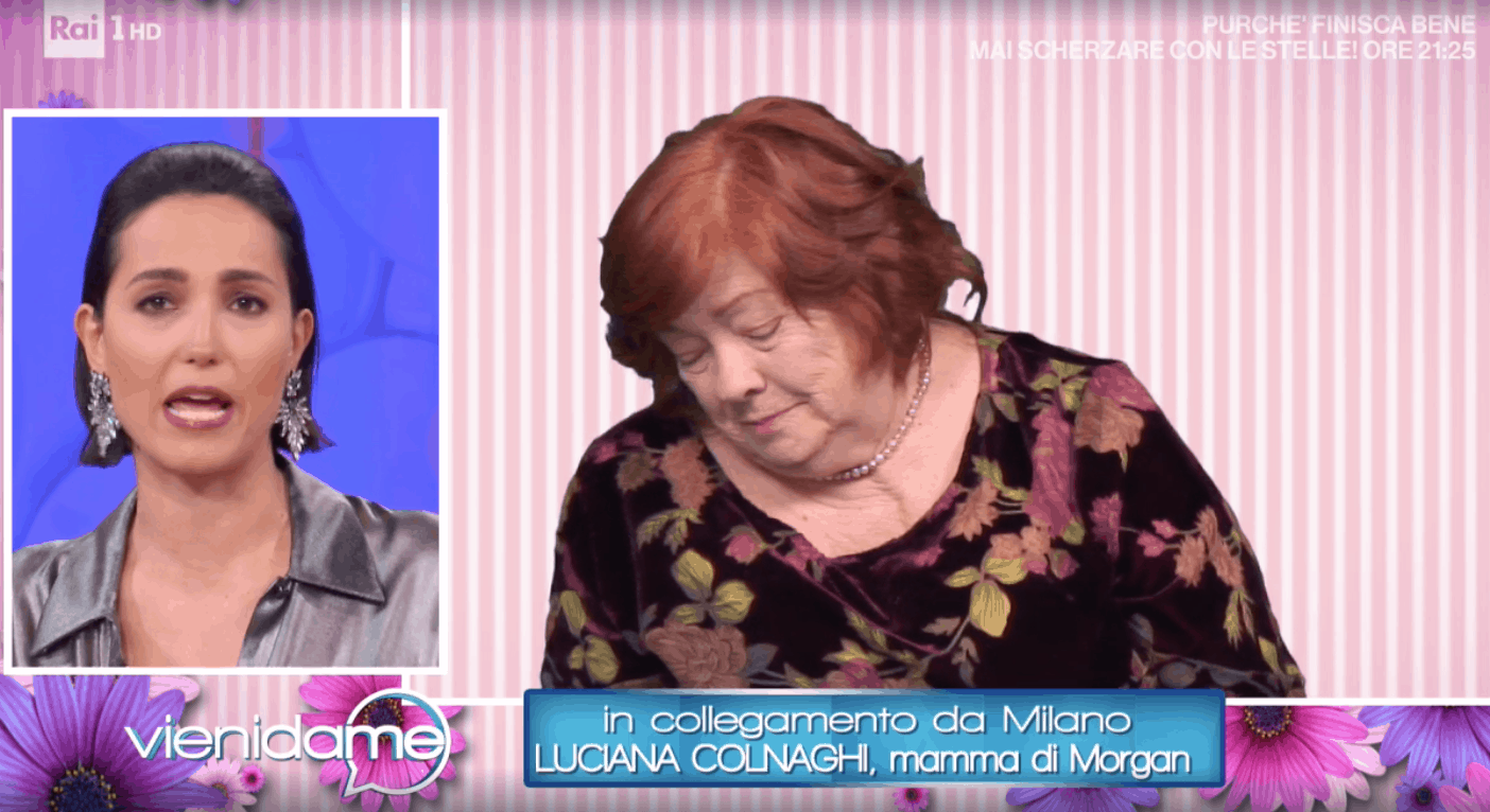 La mamma di Morgan si emoziona e commuove a Vieni da me, il suo dolore va oltre Sanremo (Foto)