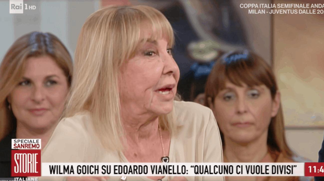 Wilma Goich a Storie Italiane rivela la gelosia della moglie di Edoardo Vianello, il suo ex marito (Foto)