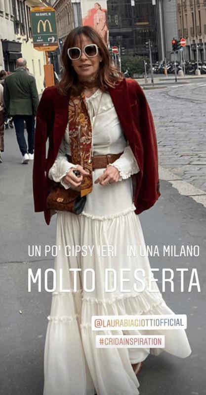 Cristina Parodi nuovo taglio di capelli per il debutto come stilista (Foto)