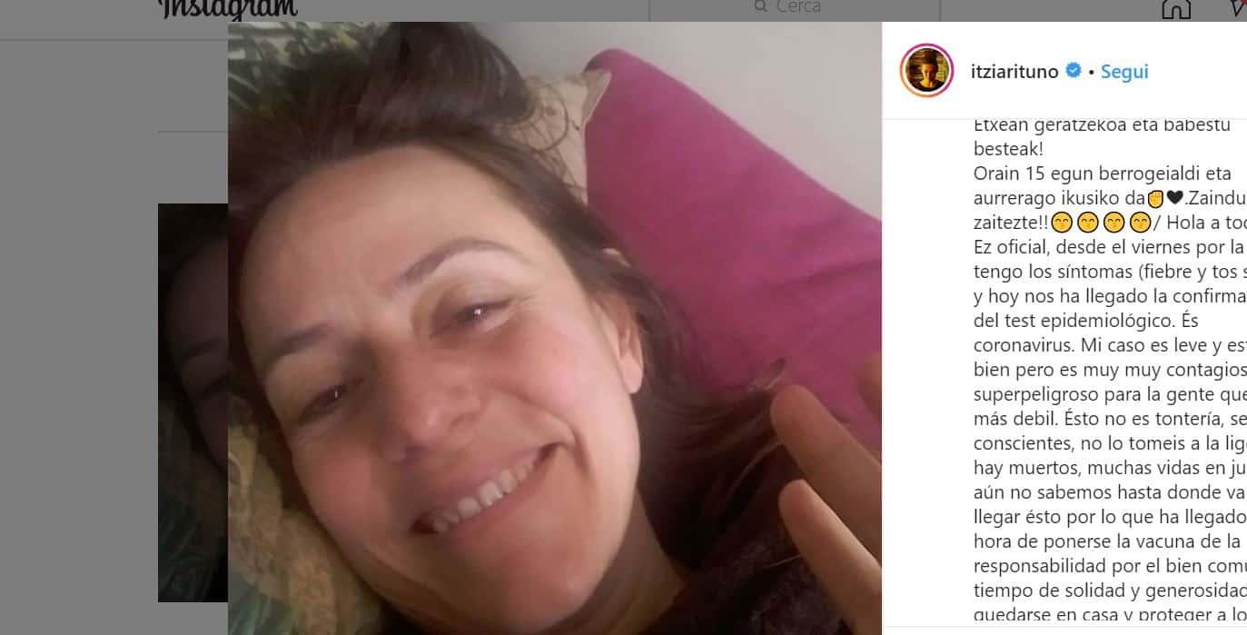 L'ispettrice Lisbona de La casa di Carta positiva al coronavirus, le parole di Itziar Ituno sui social