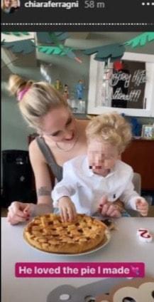 Chiara Ferragni festeggia il compleanno di Leone con la sua prima torta fatta in casa (Foto)