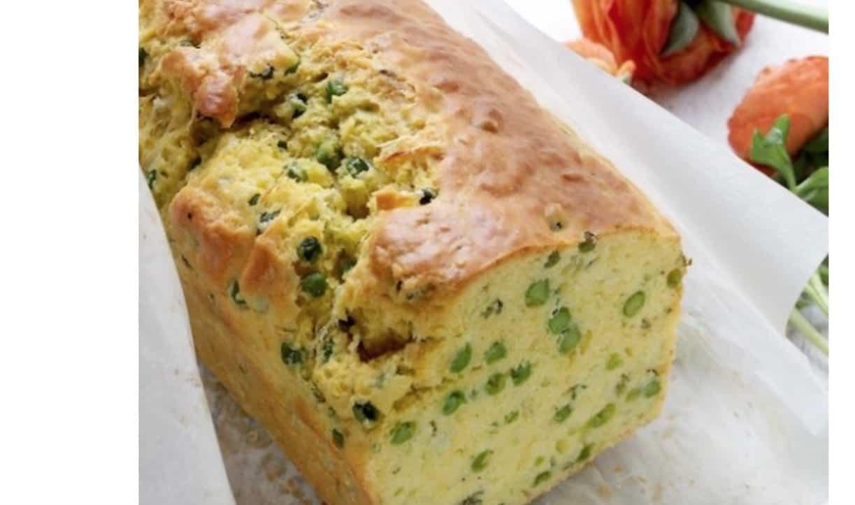 Il plumcake salato, la ricetta con i piselli di Natalia Cattelani