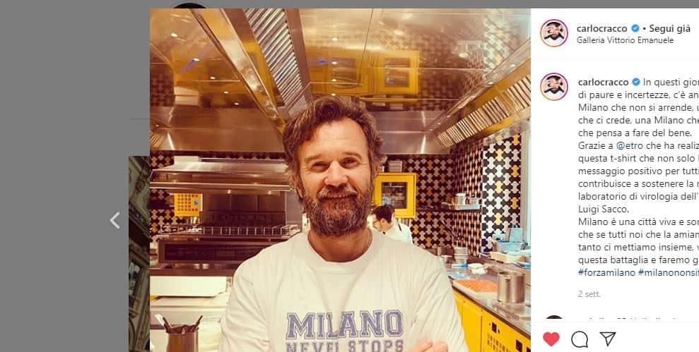 Carlo Cracco chiude i ristoranti ma cucinerà per i nuovi presidi ospedalieri di Milano