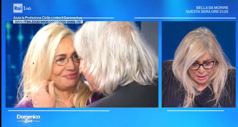Mara Venier il lacrime dopo i video con abbracci e baci per iniziare con le emozioni Domenica IN