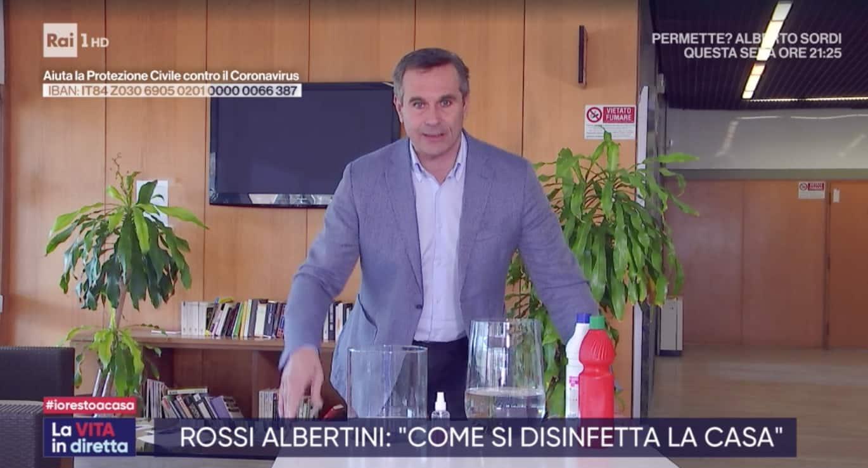 Valerio Rossi Albertini spiega perché è importante lavare bene le mani e quali prodotti per igienizzare casa