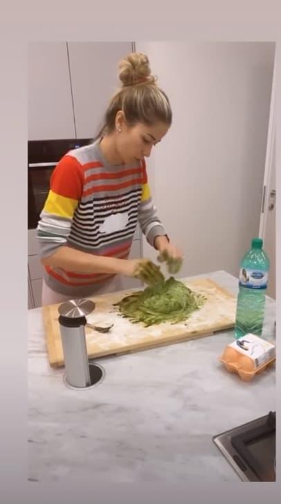 Gli gnocchi verdi di Elena Santarelli, è bravissima in cucina (Foto)