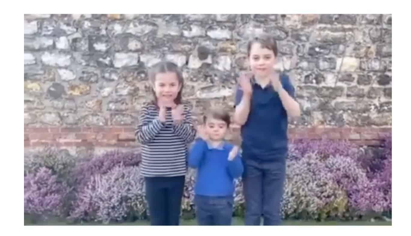 L'applauso di George, Charlotte e Louis ai medici e sanitari è il messaggio che coinvolge tutti (Video)