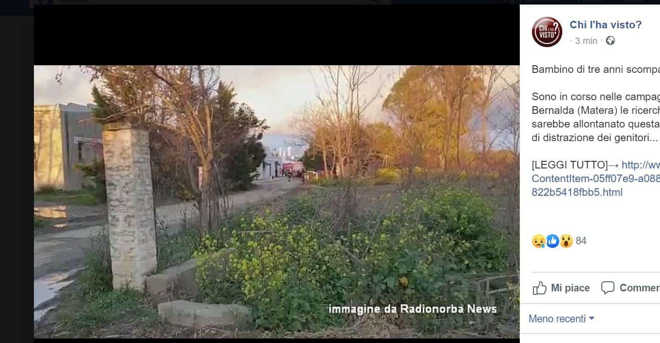 Metaponto di Bernalda: bambino di tre anni scompare nel nulla, in corso del ricerche