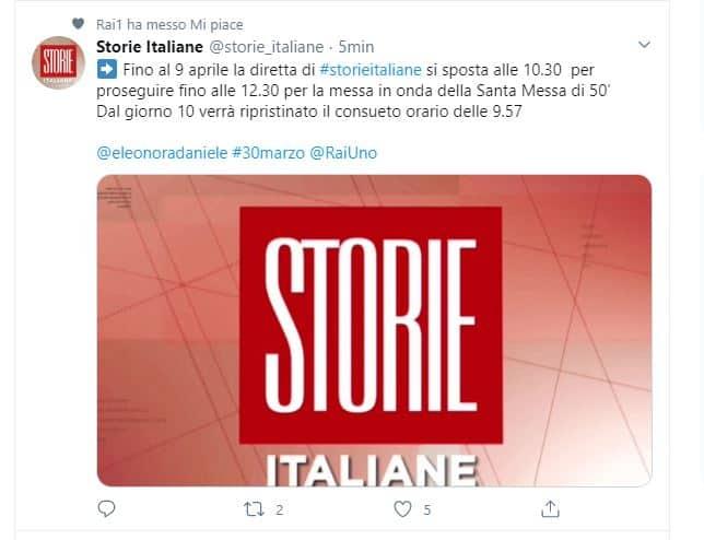 Storie Italiane si cambia ancora: un nuovo orario per Eleonora Daniele