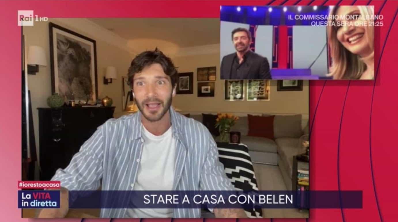 Stefano De Martino da casa sua a La vita in diretta racconta le sue giornate in quarantena (Foto)