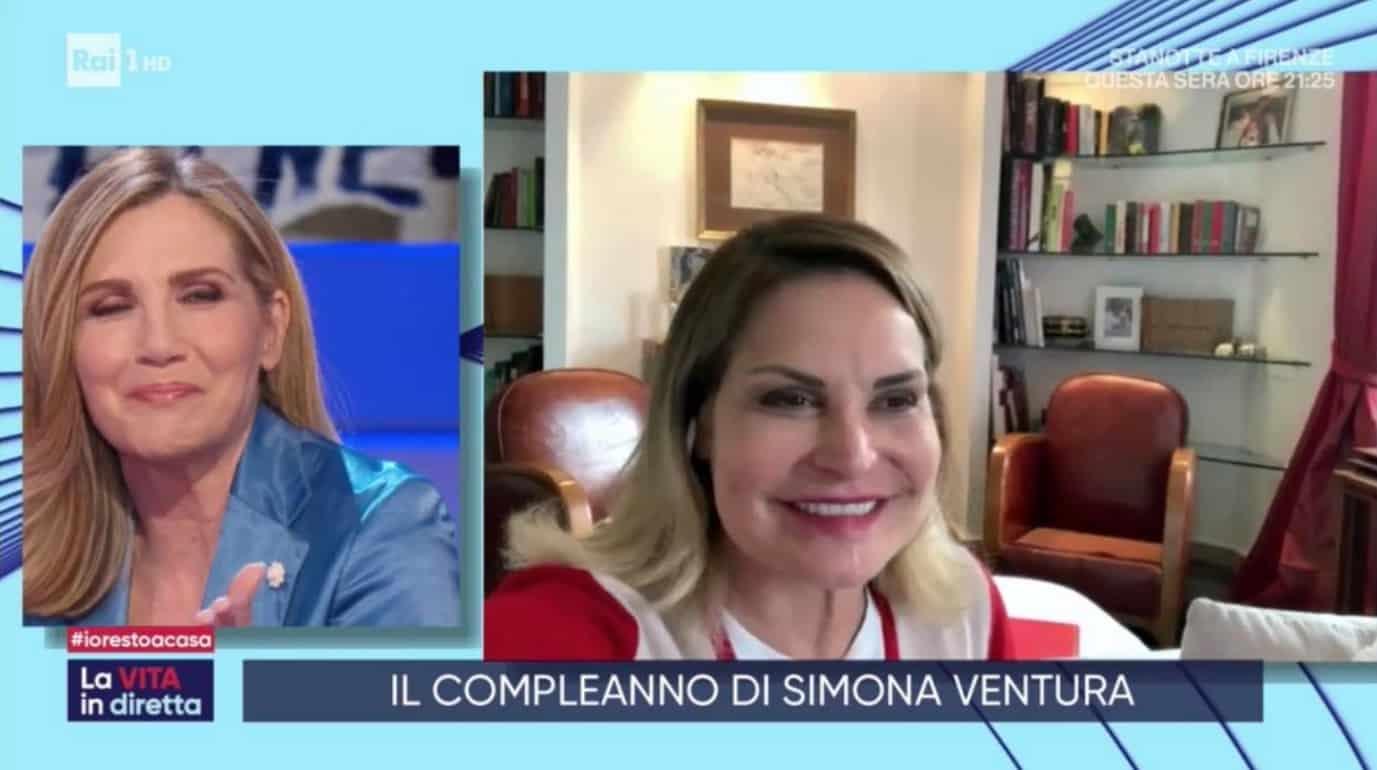 Sorpresa per Simona Ventura  nel giorno del suo compleanno con La vita in diretta (Foto)