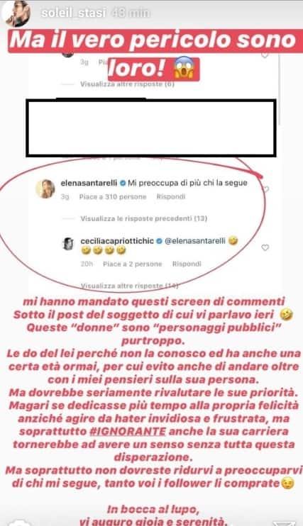 Scontro social tra Elena Santarelli e Soleil Sorge, brutta accoglienza dopo la bella vacanza (Foto)
