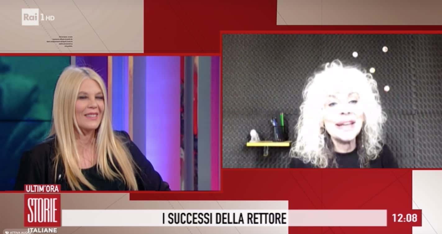 Donatella Rettore a Storie Italiane confida come ha scoperto il tumore e come sta adesso