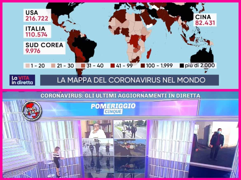 Basta notizie sul coronavirus nel pomeriggio degli italiani: i programmi perdono ascolti, si cerca altro