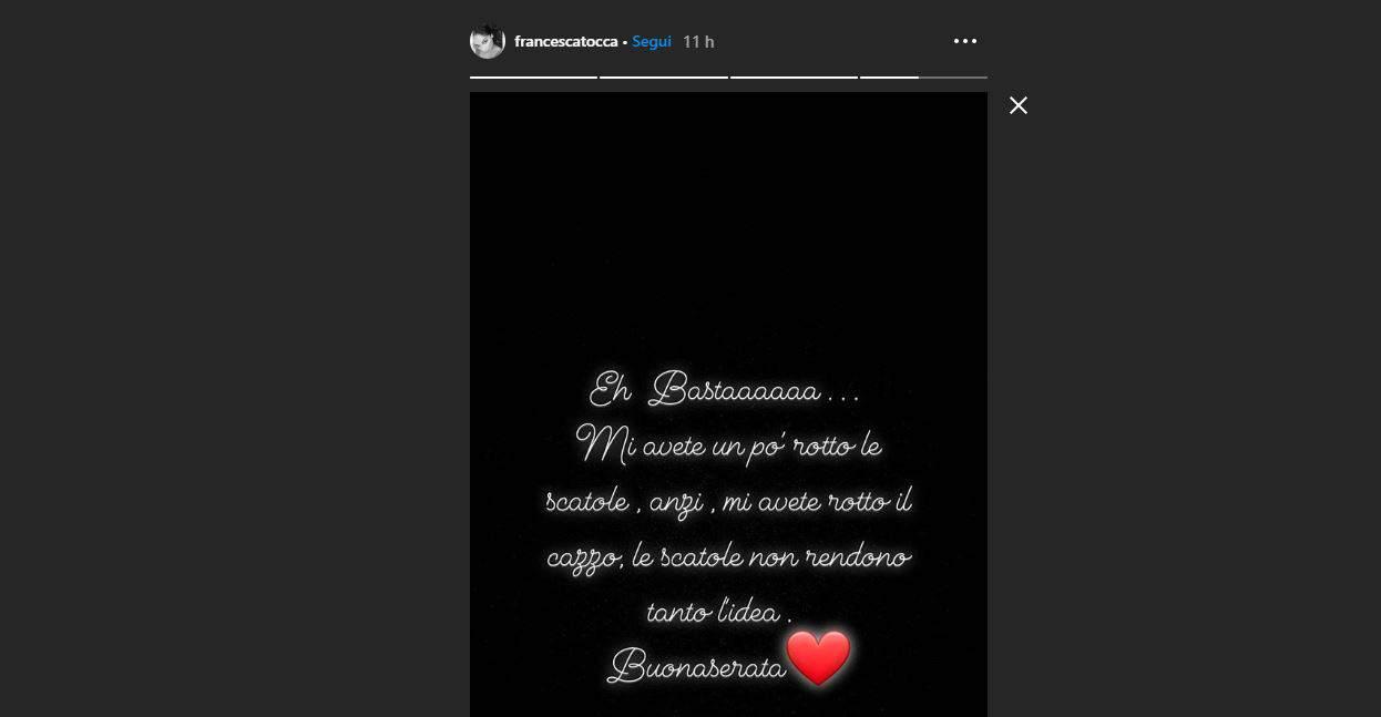 Francesca Tocca rompe il silenzio risponde senza rispondere tra Valentin e la fine del suo matrimonio