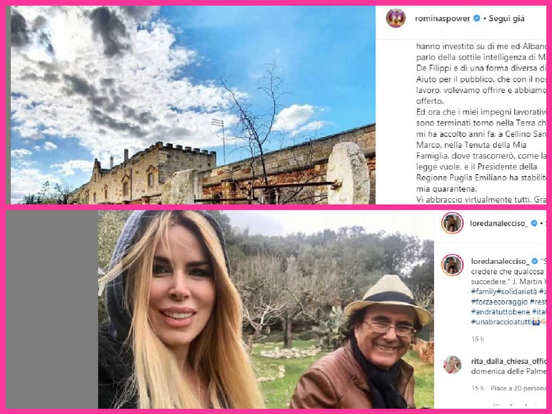 Al Bano, Loredana Lecciso e Romina Power insieme in quarantena: casa è Cellino San Marco