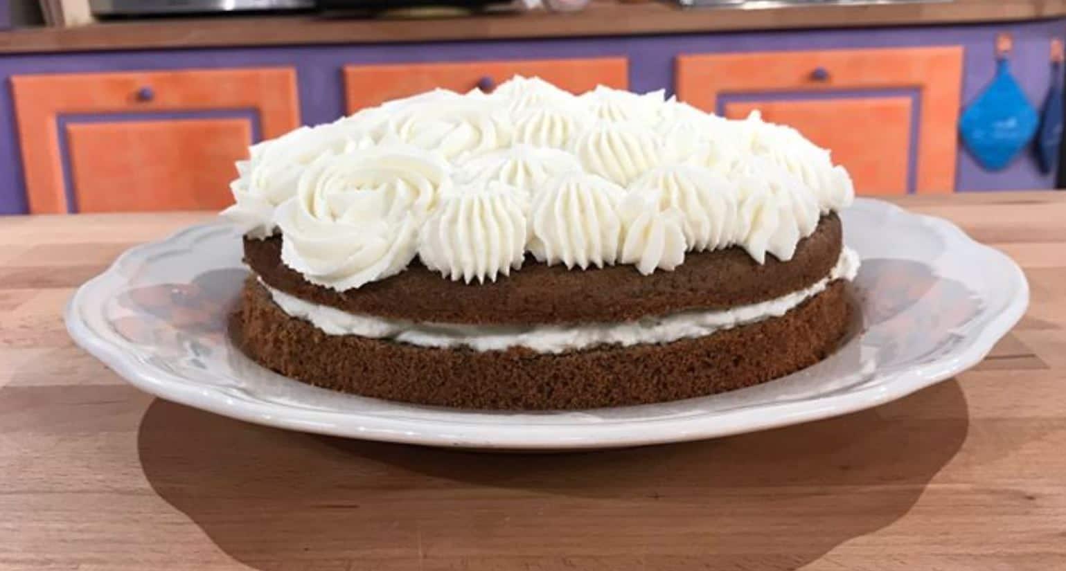 Da Quel che passa il convento torta morbida con crema al mascarpone e fondi di caffè