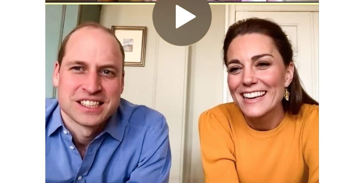 William e Kate Middleton in videochiamata proseguono gli impegni ufficiali da casa (Foto)