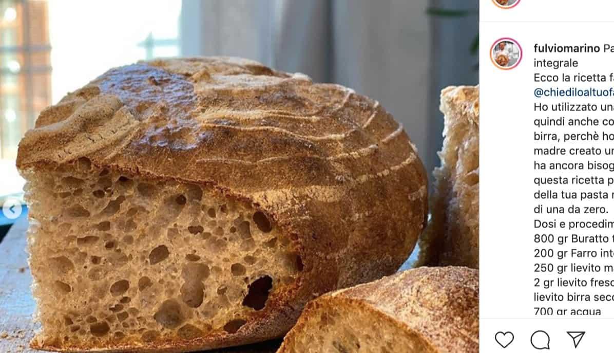 I Segreti Del Pane la ricetta del pane di fulvio marino con buratto e farro