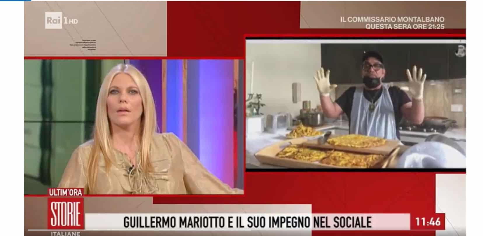 Guillermo Mariotto festeggia il suo compleanno cucinando per chi ha bisogno: gli auguri da Storie Italiane