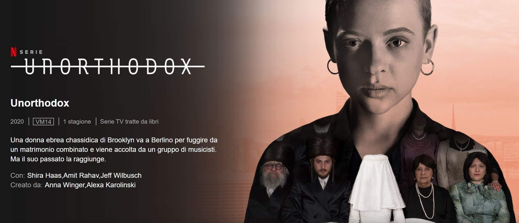 Unorthodox la serie Netflix da vedere: la storia di Etsy e il viaggio nella comunità Yiddish di NY