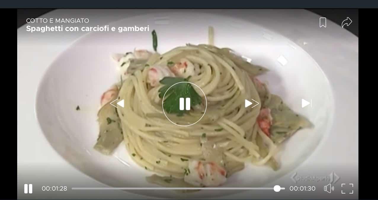 Cotto e Mangiato, la ricetta spaghetti con carciofi e gamberi