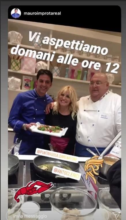 Antonella Clerici in diretta con Mauro Improta e Renatone: insieme come a La prova del cuoco (Foto)