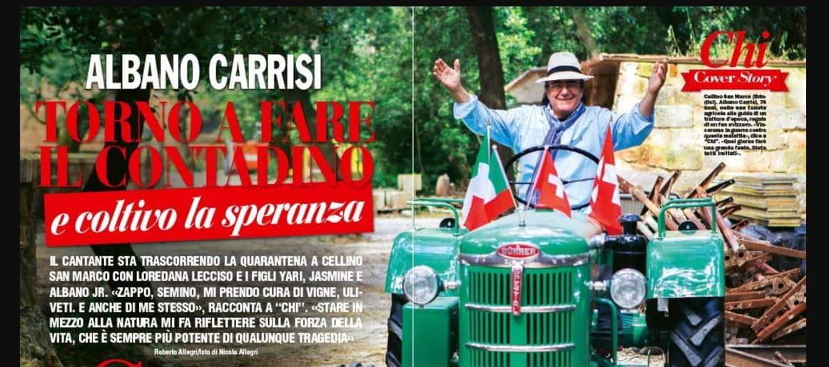 Per Al Bano vita da contadino a Cellino tra la preghiera e la forza ritrovata nei piccoli gesti lancia un messaggio di speranza
