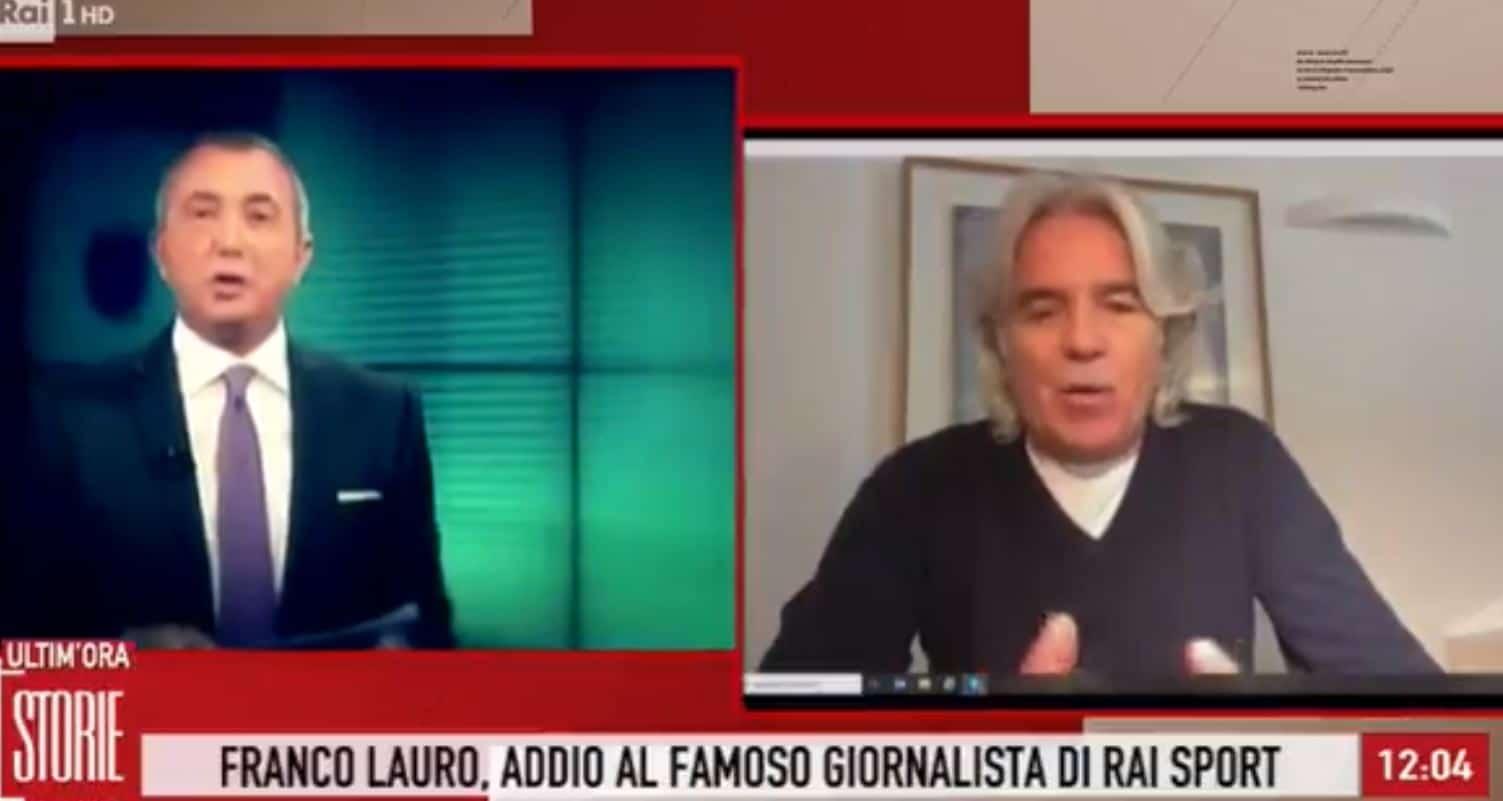 """Ivan Zazzaroni ricorda Franco Lauro da Storie Italiane: """"Una di quelle morti che riescono a sorprenderti"""""""