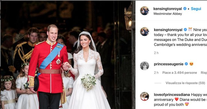 Anniversario Matrimonio Kate E William.William E Kate Middleton Festeggiano Nove Anni Di Matrimonio Un