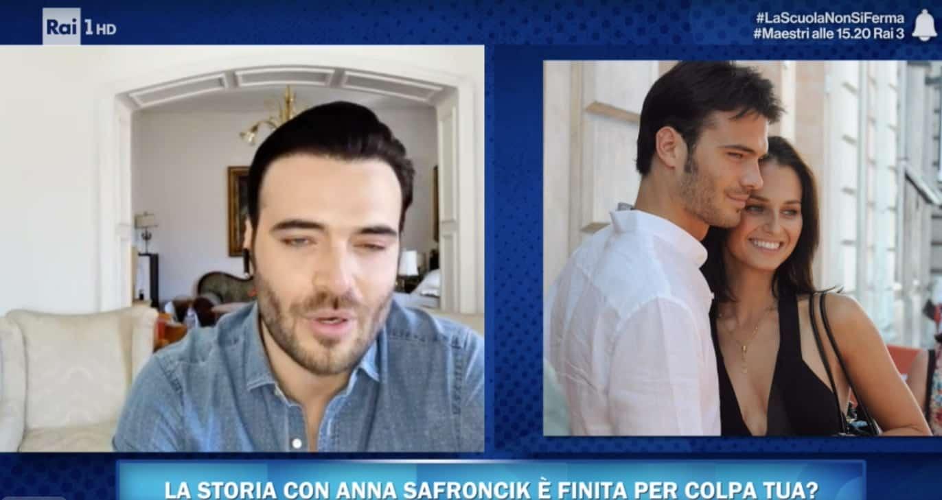 Giulio Berruti single parla di Anna Safroncik, il suo primo amore: a Vieni da me non c'è lo scoop (Foto)