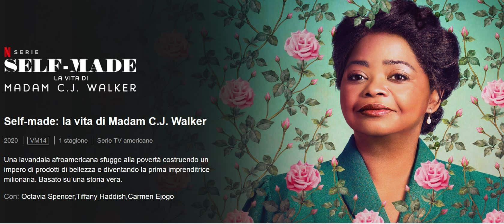 Su Netflix Self Made-La vita di Madam C.J. Walker una mini serie da vedere
