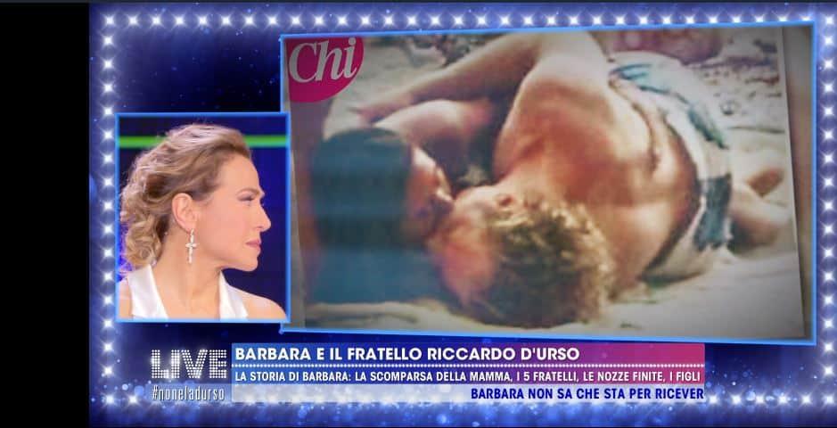 Barbara d'urso rivede le immagini del suo matrimonio ma si volta ...
