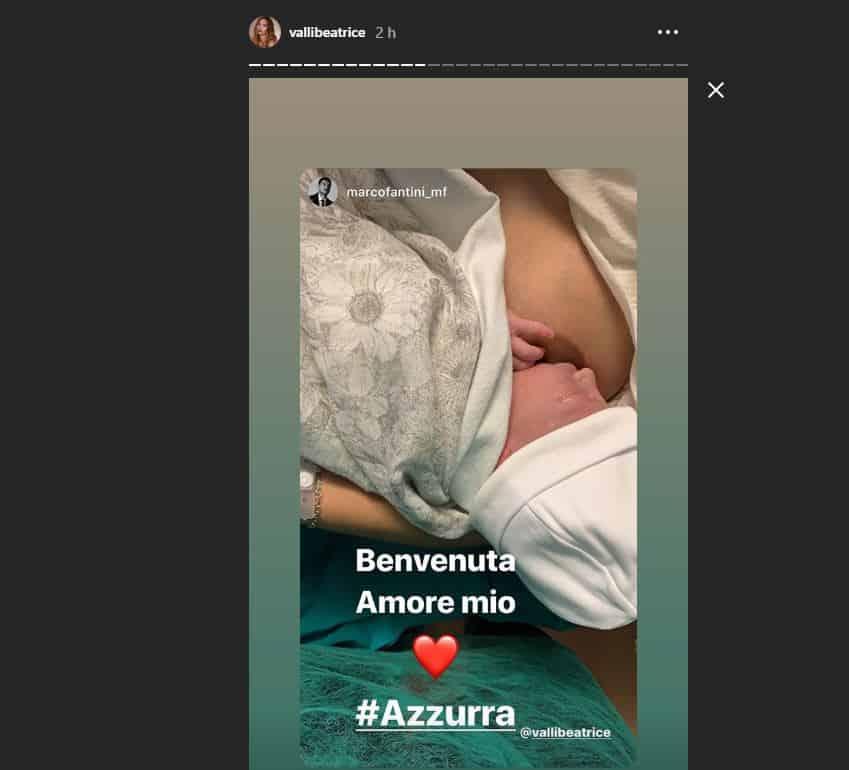 E' nata finalmente Azzurra: mamma Beatrice e papà Marco al settimo cielo