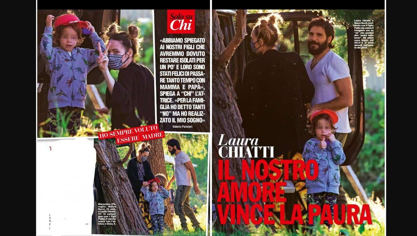 Laura Chiatti e Marco Bocci in quarantena: dalla rivista Chi aneddoti e rivelazioni