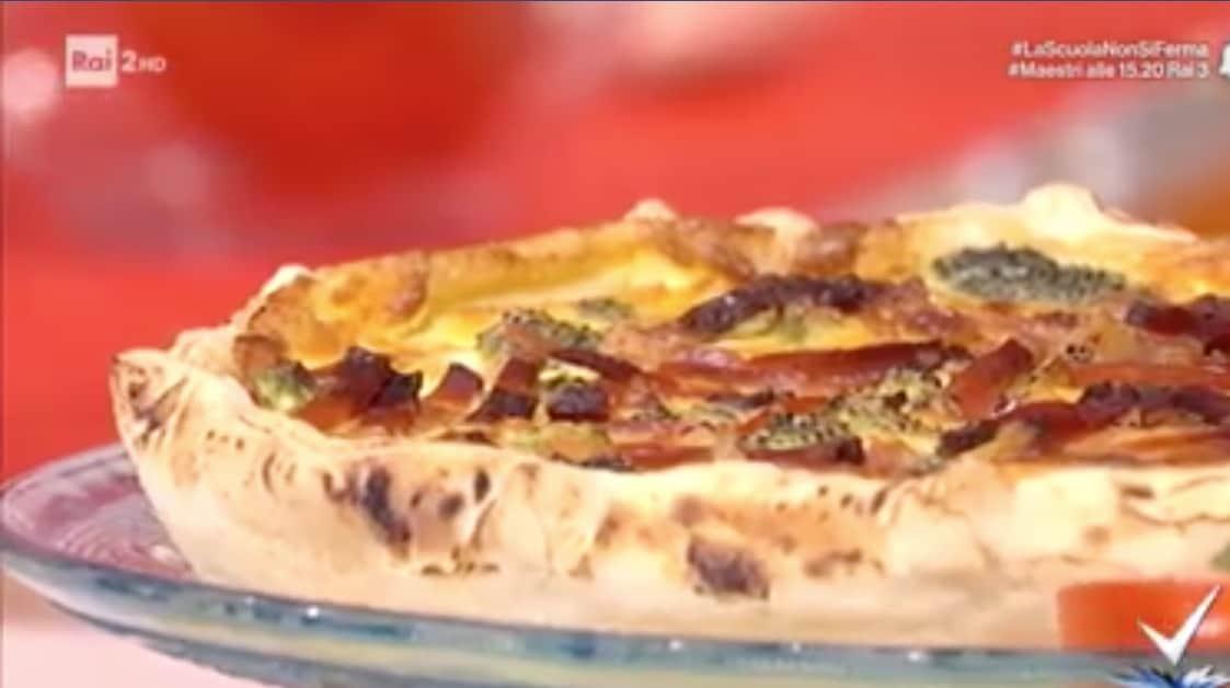 Ricette Detto Fatto, la torta rustica di Matteo Poggi con broccoli e formaggio