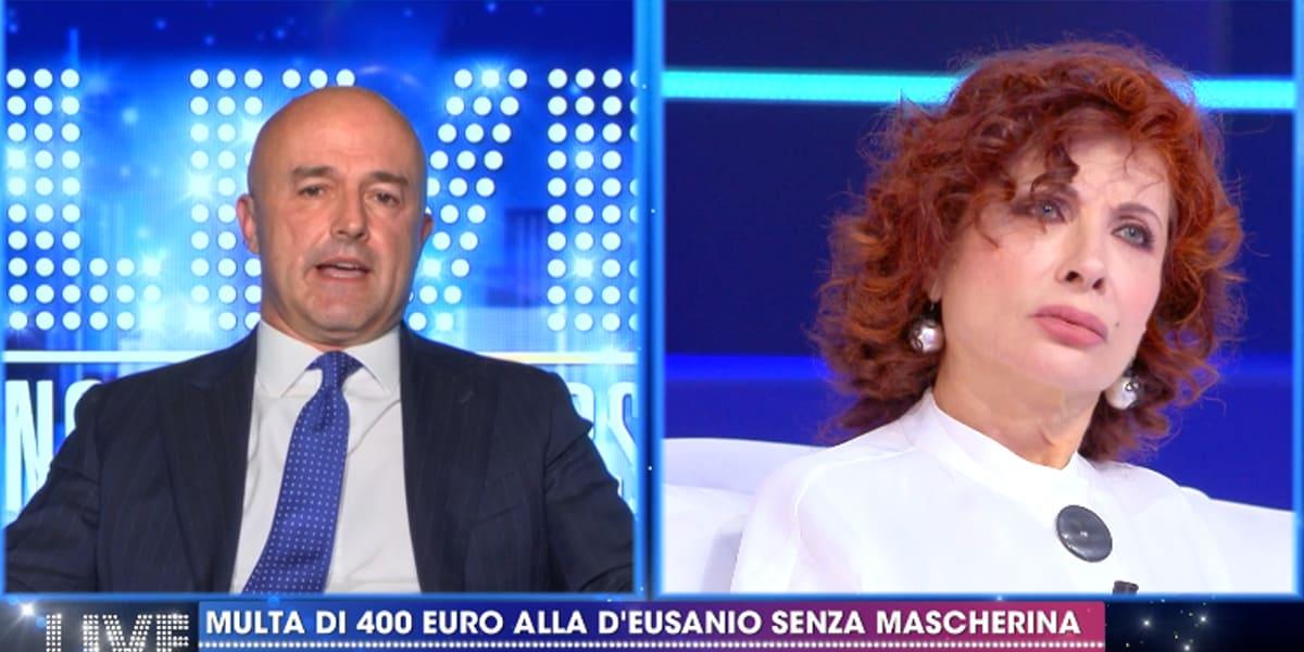 LIVE Non è La D'Urso, Gianluigi Nuzzi contro Alda D'Eusanio: multata perché senza mascherina