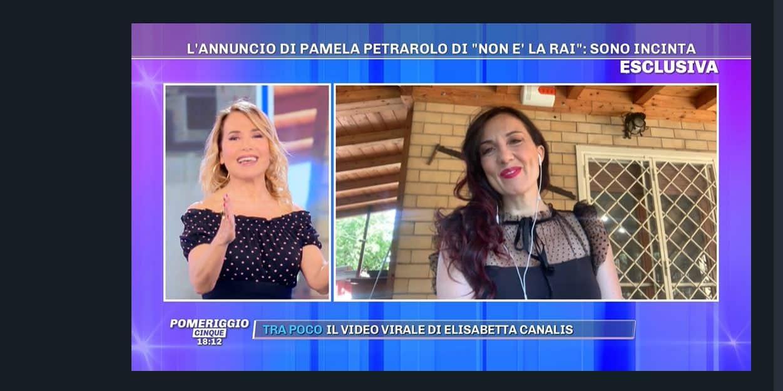 Da Pomeriggio 5 l'annuncio di Pamela Petrarolo: mamma tris a 43 anni