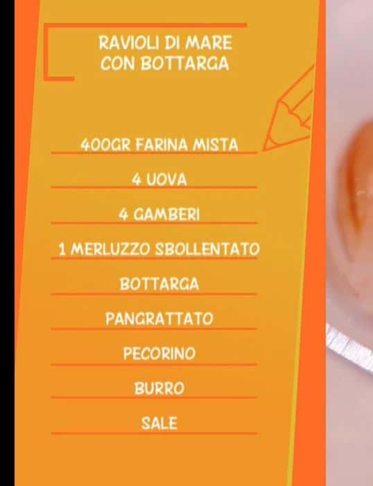 Ricette Anna Moroni: ravioli di mare con bottarga da Ricette all'Italiana