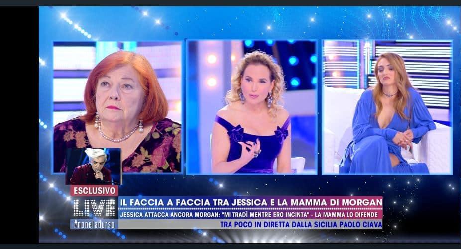 Scontro tra Jessica Mazzoli e la madre di Morgan a Live: la d'Urso non riesce a sistemare le cose