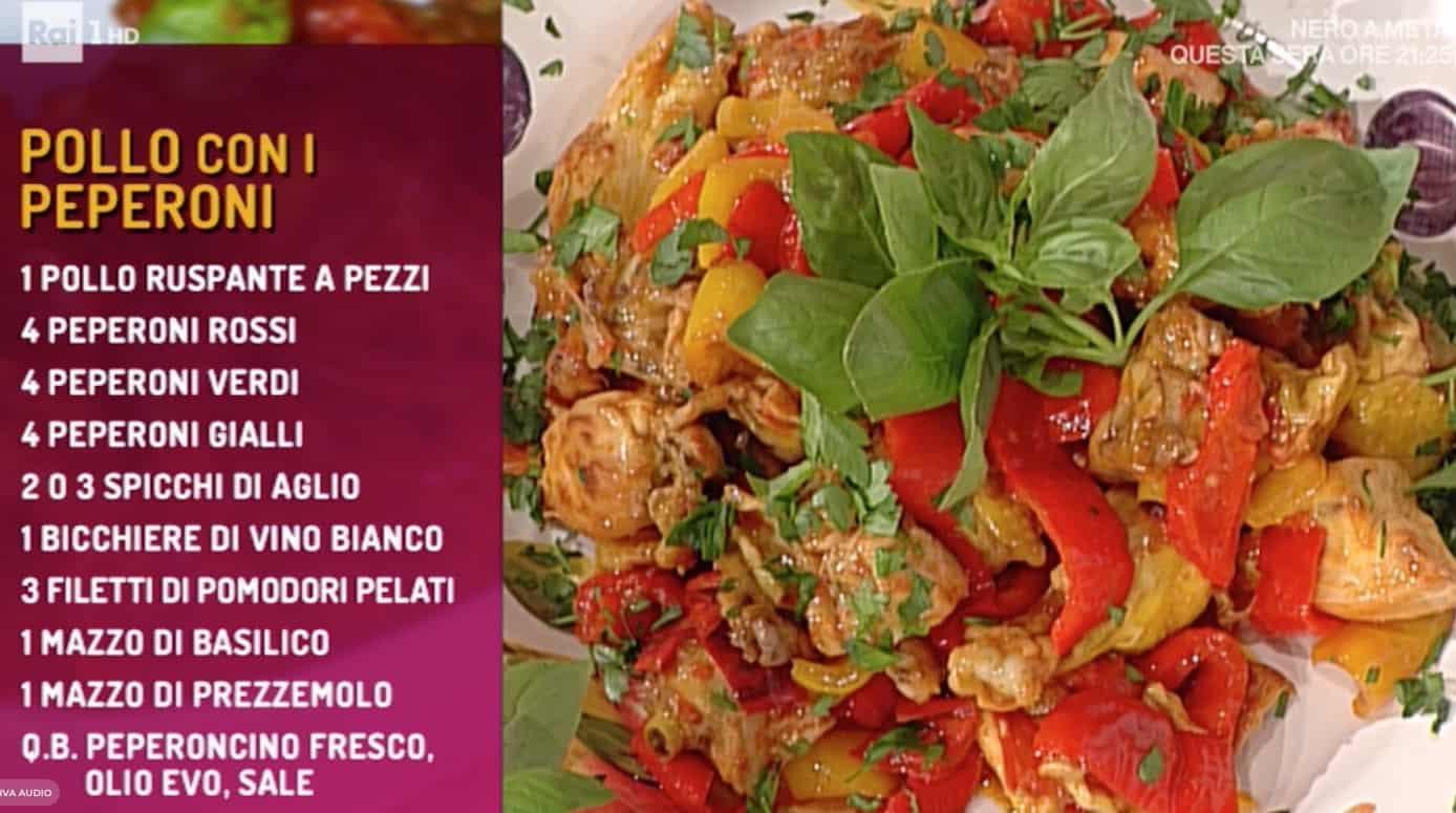 La ricetta del pollo con peperoni di Marco Bottega per La prova del cuoco